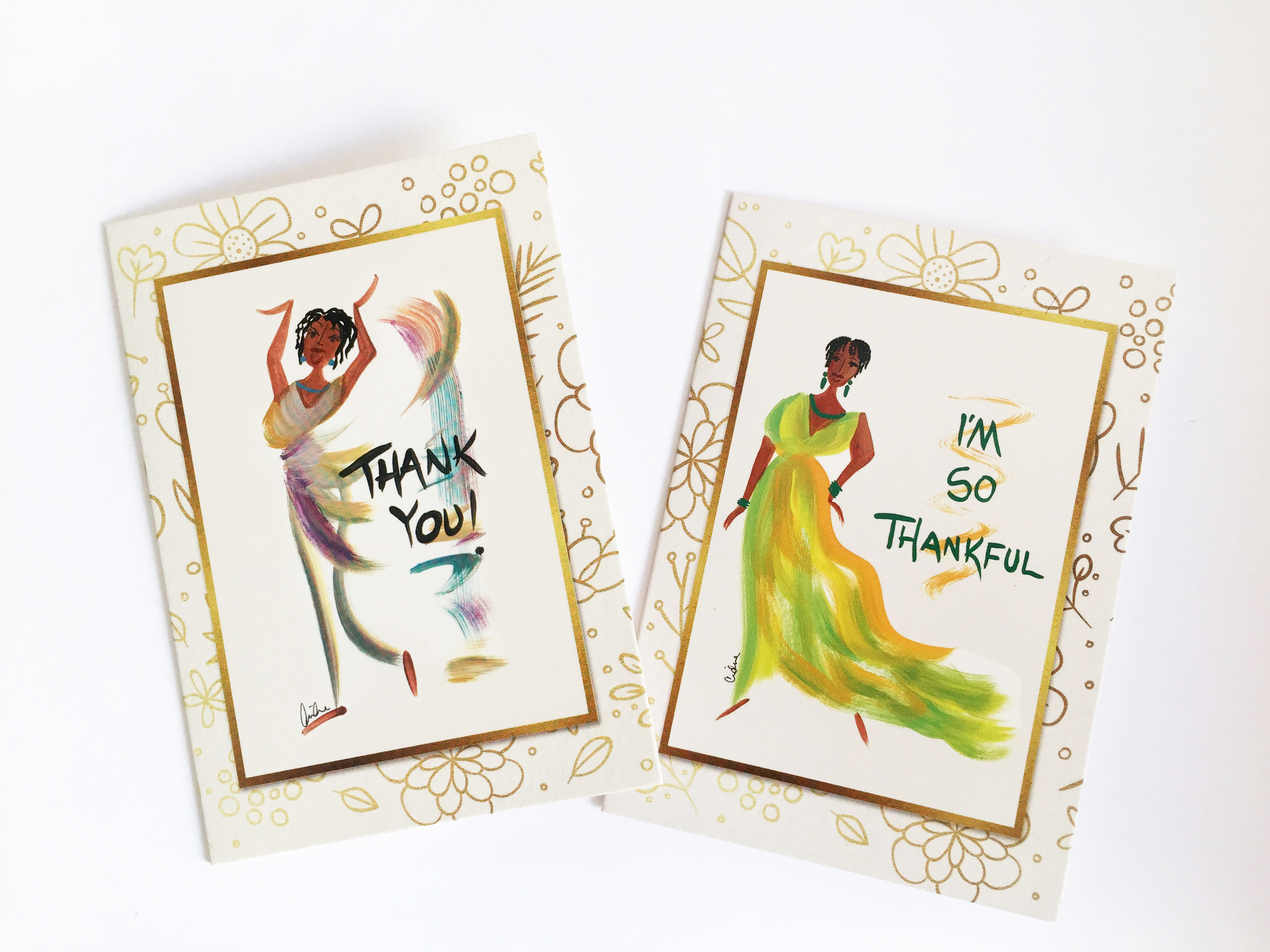 cw assorted thank you cards shades of color