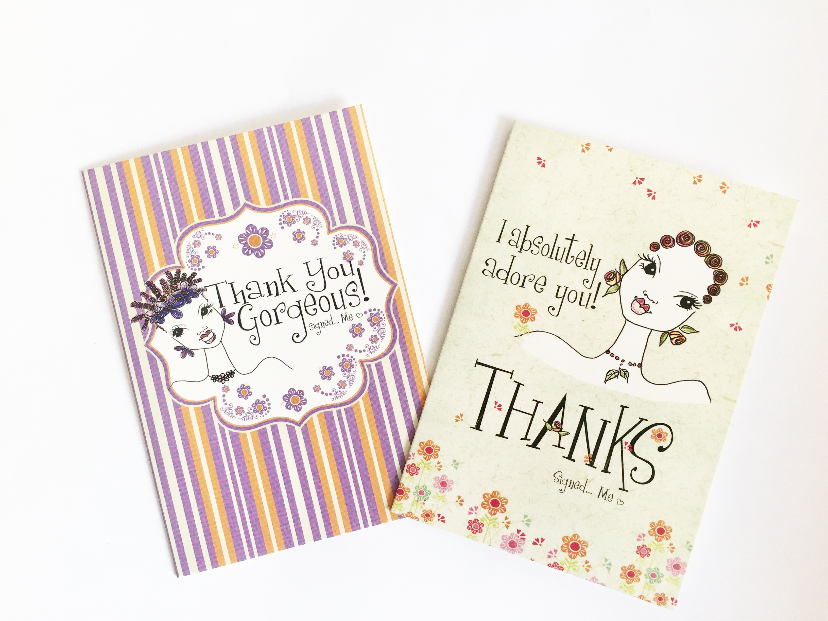 kw assorted thank you cards shades of color