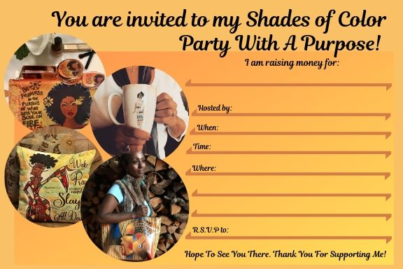 Shades of Color Fundraising Party Invite
